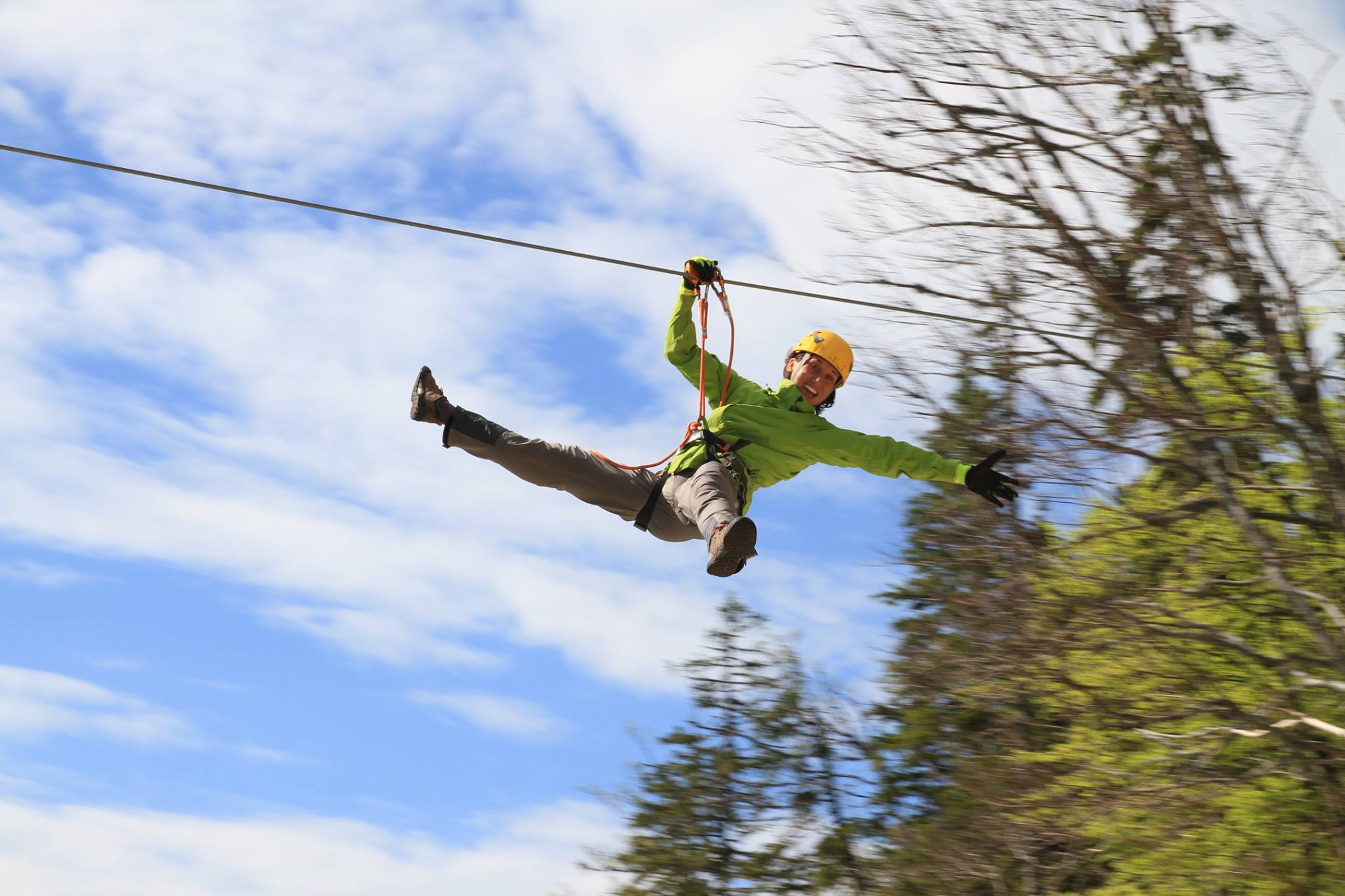 Zip Line Harness >> Zip-line in Bovec, Slovenia | River Rafter - English