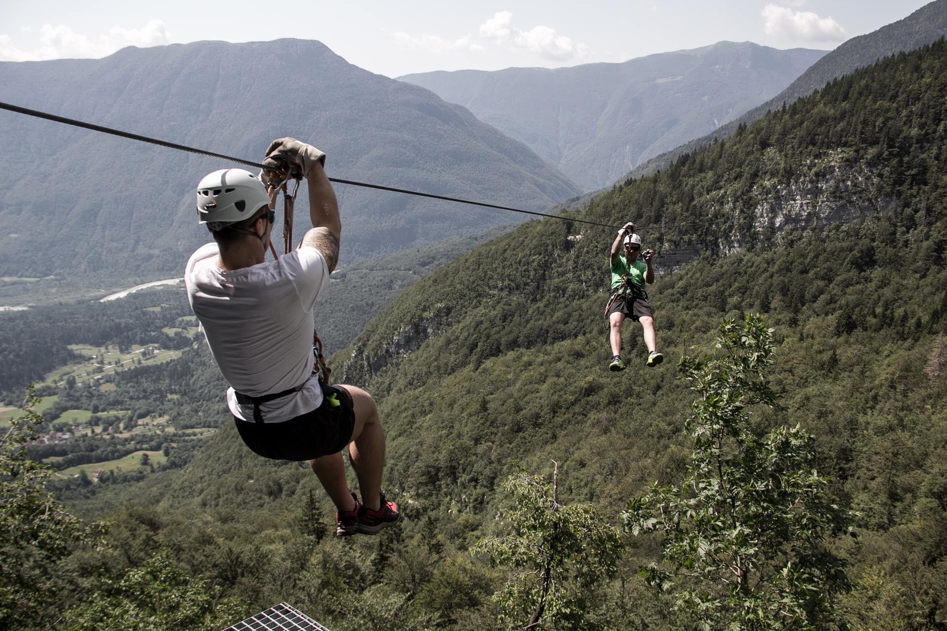 Cable Zip Line : Zip line in bovec slovenia river rafter english
